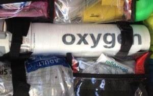 Oxygen Bottle in First On Scene Paramedic Bag