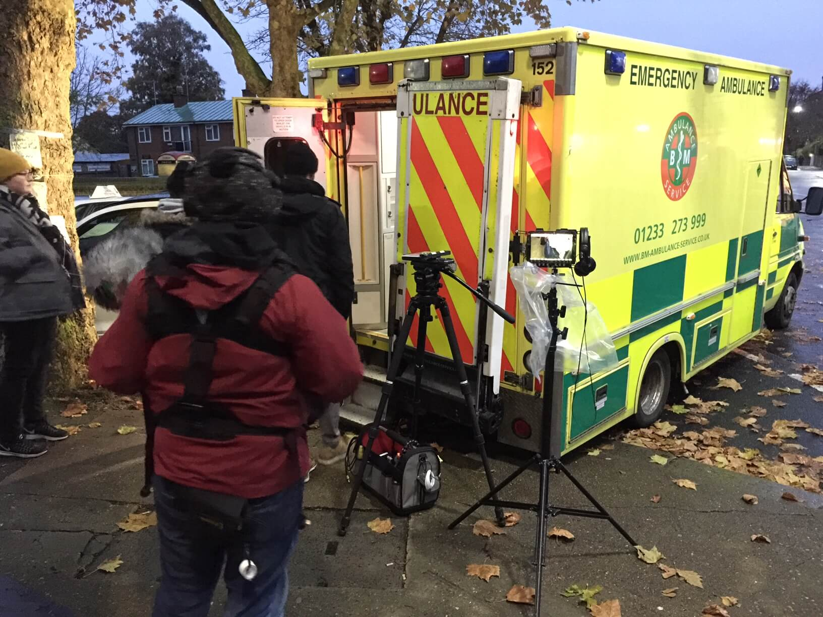 Filming on Location in London