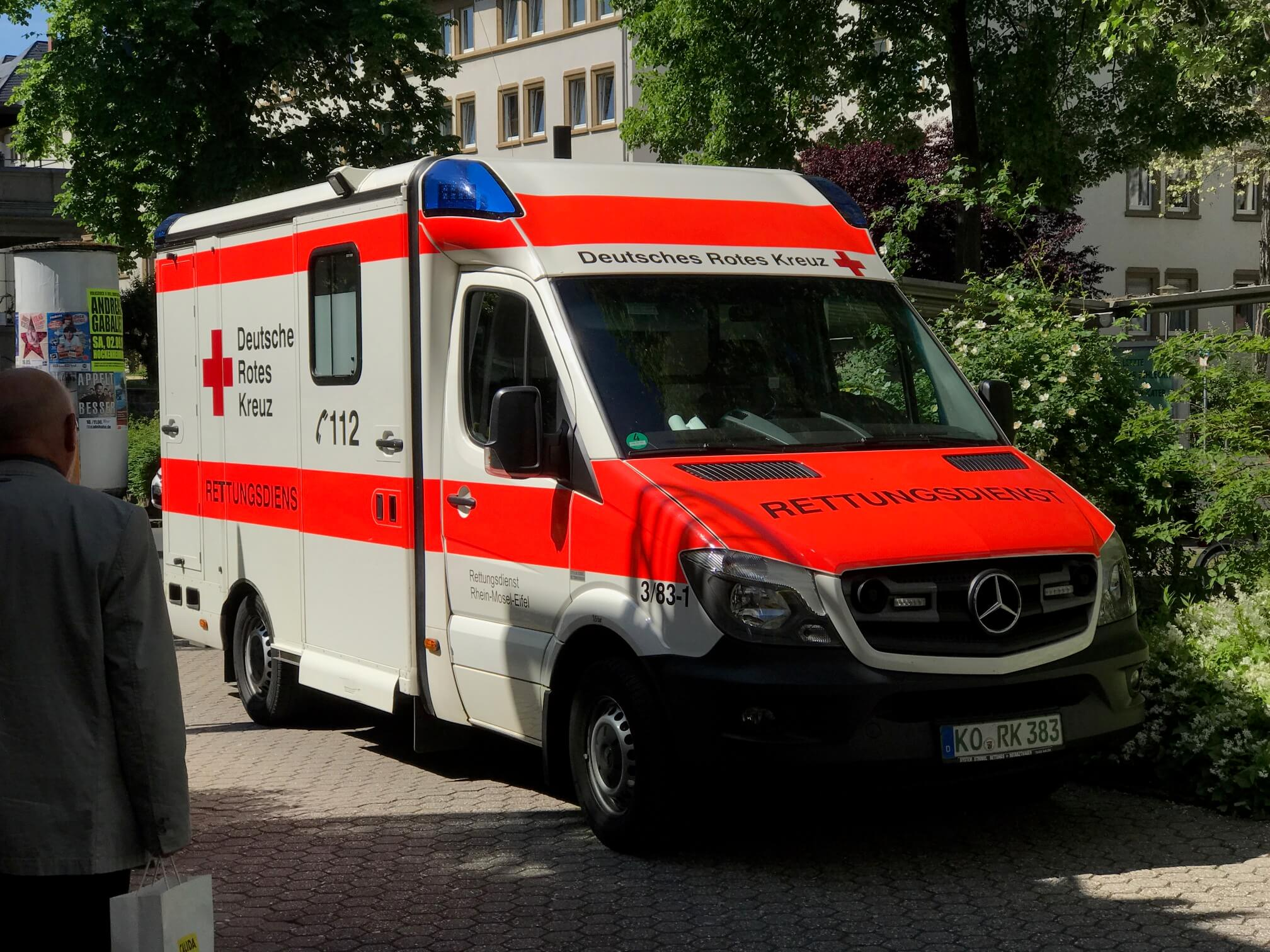 Nice looking German Ambulance at the hospital in Koblenz